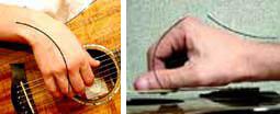 не правильная постановка руки на гитаре