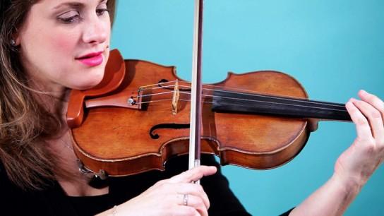 скрипка как держать