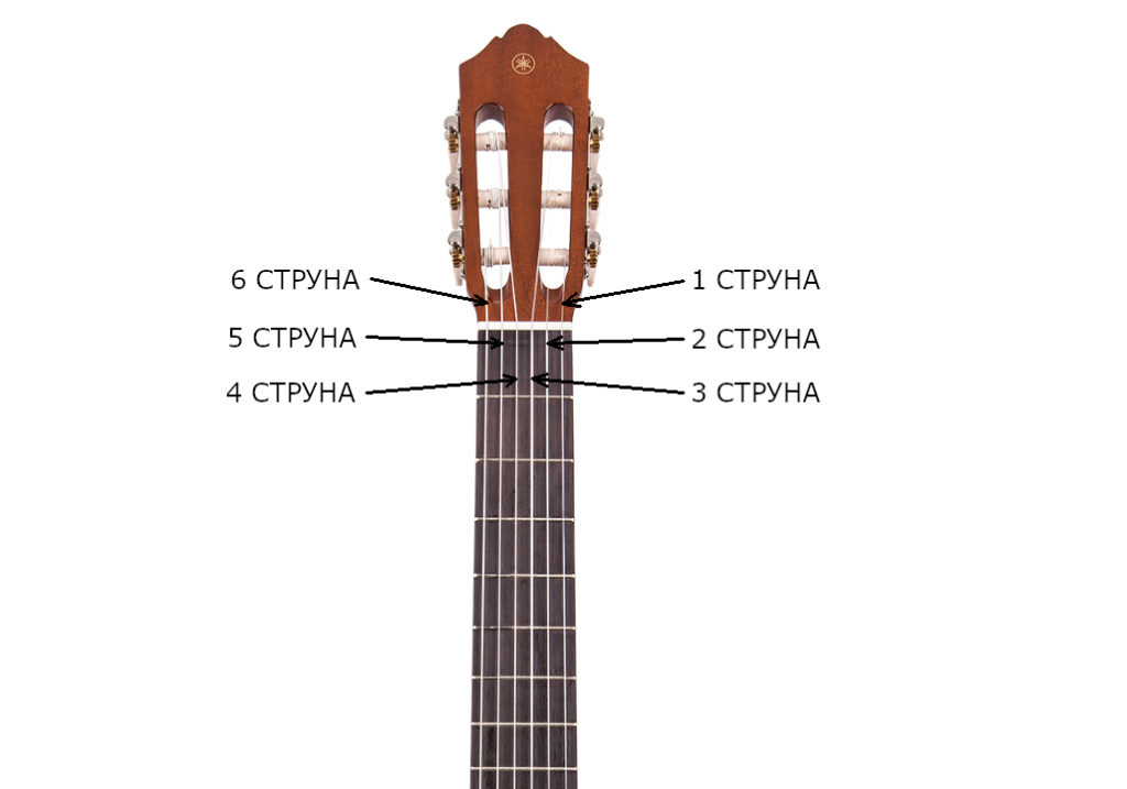 Порядок струн на гитаре